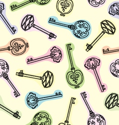 pattern with keys vector image