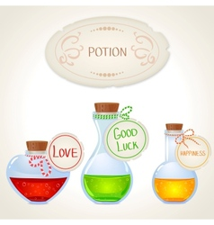 potion set vector image