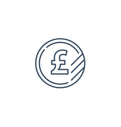 pound coin icon financial currency exchange vector image