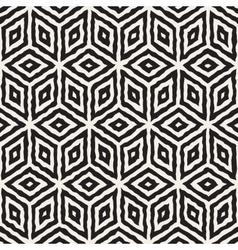 Seamless hand painted geometric rhombus vector