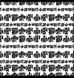 Seamless maya pattern black and white vector