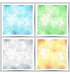 set of abstract backgrounds vector image