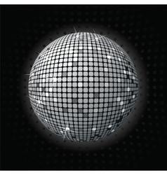 Shiny disco ball greey vector image