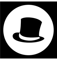 simple man cylinder hat black icon eps10 vector image vector image