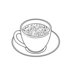 sketch cup of whipped vector image vector image