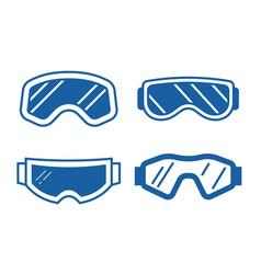 ski goggles icon set vector image vector image