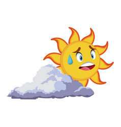 Smiling sun cartoon mascot character image vector