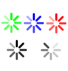symbol loading green blue red grey vector image