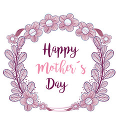 Symbol mother day with branches flowers decoration vector