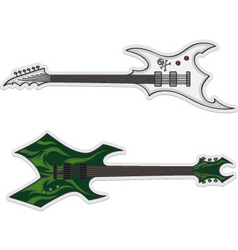two beautiful guitars vector image