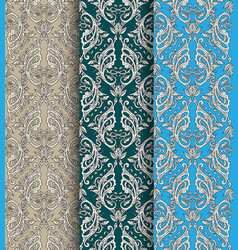 victorian ornate wallpaper vector image vector image