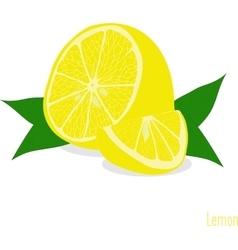 Lemon slices set of lemons vector