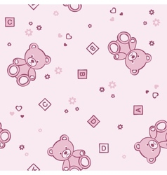 Teddy bears seamless background vector image