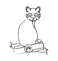 Cute kitty mascot icon vector