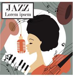 An afro american jazz singer vector