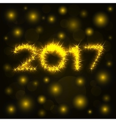 2017 gold shine numbers for greeting cards vector image vector image