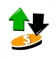 up and down currency vector image