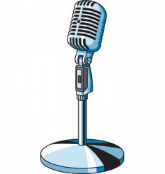 Vintage microphone vector