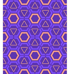 Violet purple orange color abstract geometric vector