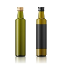 Olive oil bottle template with screw cap vector