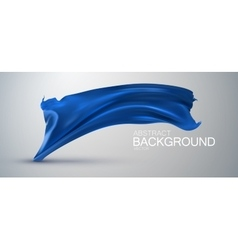 Blue silk fabric vector