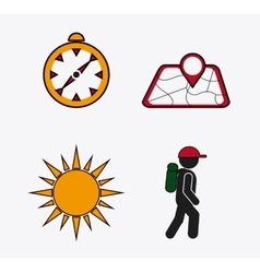 Set icons of travel design vector
