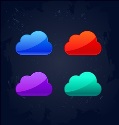 Colourful cloud computing concept vector