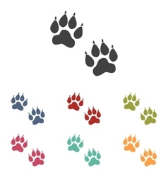Animal tracks icons set vector