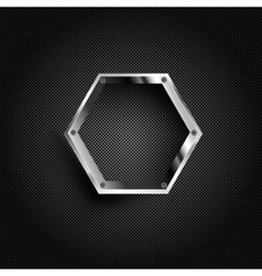 bacground with carbon and geometric elements vector image