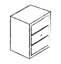 Bedside table with drawers vector