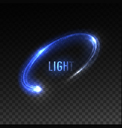 blue circular light stream isolated on vector image vector image