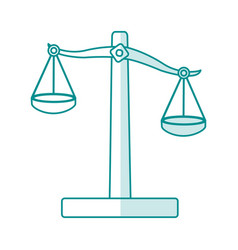 Blue silhouette shading balance symbol of justice vector