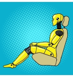 Crash test dummy pop art style vector