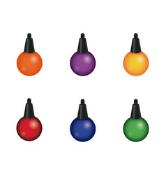 decorative christmas lights icons vector image vector image