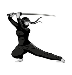 Female ninja vector image