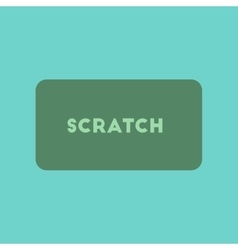 Flat icon on stylish background scratch card vector