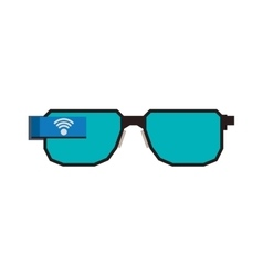 Glasses gadget device technology icon vector