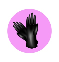 gloves in circle vector image vector image