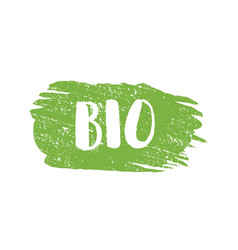 Grunge bio natural rubber stamp vector