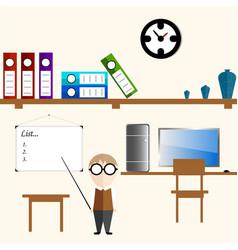 Infographics teacher in the room vector