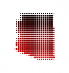 map of Arizona vector image vector image