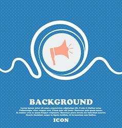 Megaphone soon icon Loudspeaker symbol Blue and vector image