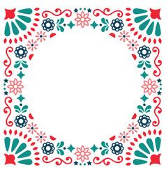 Mexican folk greeting card wedding vector