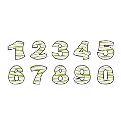 Number of mummy Typography icon in bandages vector image