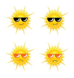 sun with sunglass vector image