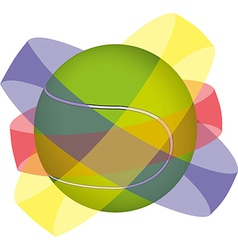Tennis ball design vector image