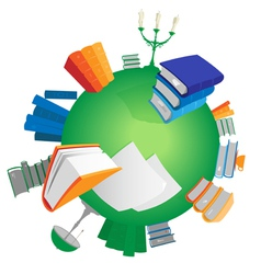 World of knowledge vector image vector image