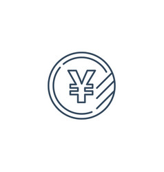 yen coin icon financial currency exchange vector image vector image