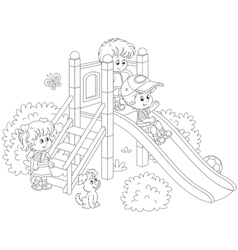 Slide in a park vector