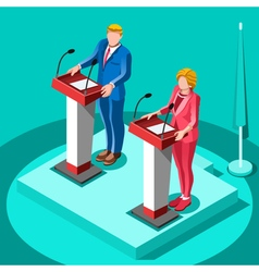 Election infographic political rally isometric vector
